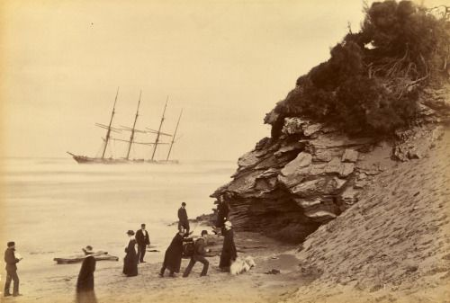 Wreck of the ship George Roper, Point Lonsdale, by Fred Kruger, 1883 [[MORE]]…