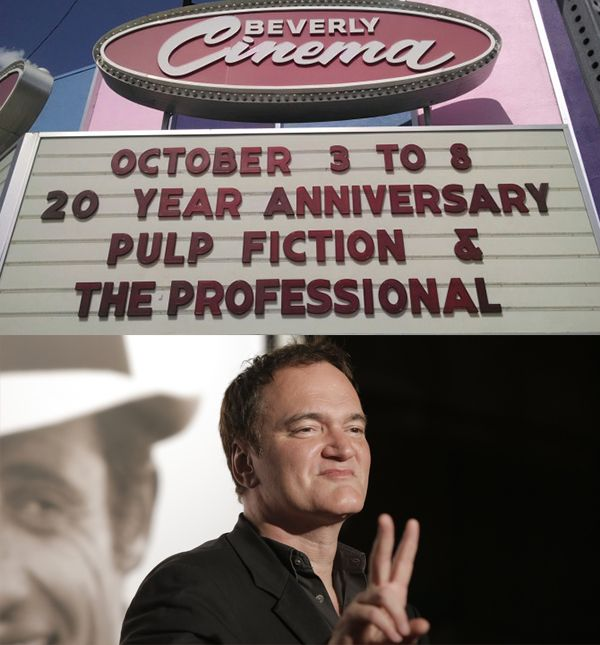 The New Beverly Cinema, owned by the famed director Quenton Tarantino.