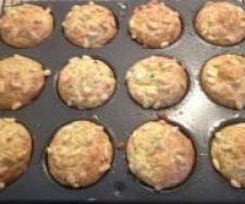 Cheese and zucchini muffins