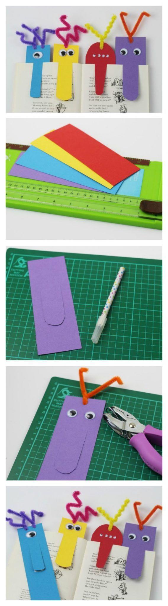 monster big nose bookmarks collage