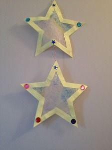 Een slinger van sterren knutselen en toveren met wasco