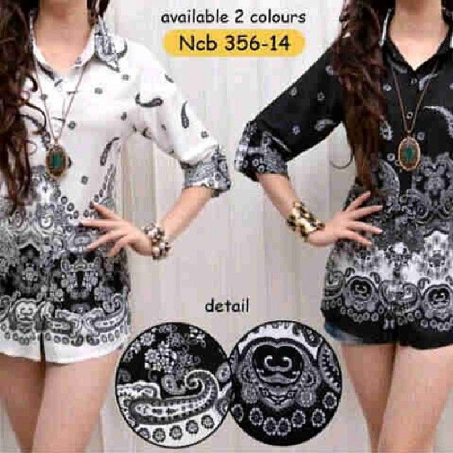 Malika batik black n white 66rb