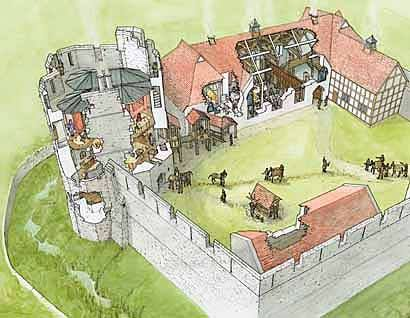 manor medieval castle drawing fortified plans castles ludlow stokesay near tower english floor drawn map drawings fantasy earthbag fortification houses
