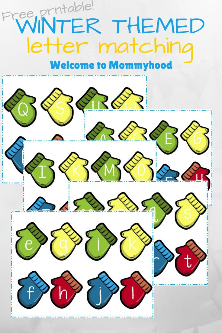 Mitten Letter Match (from Welcome to Mommyhood)