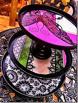 tin lid tiered organizer - love that you could choose your own color combo and personalize