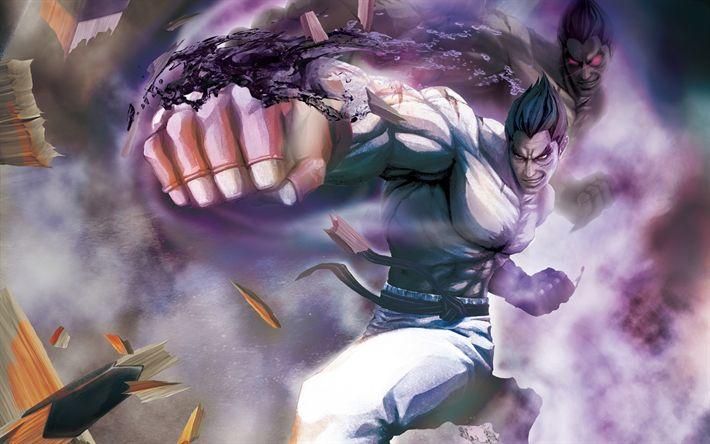 Download wallpapers Kazuya, fighting game, fighter, Street Fighter X Tekken, Street Fighter