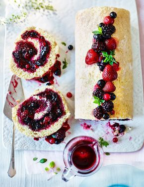 You can't go wrong with a classic summer fruit roulade