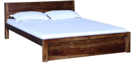 Acropolis Solid Wood Queen Size Bed In Provincial Teak Finish By