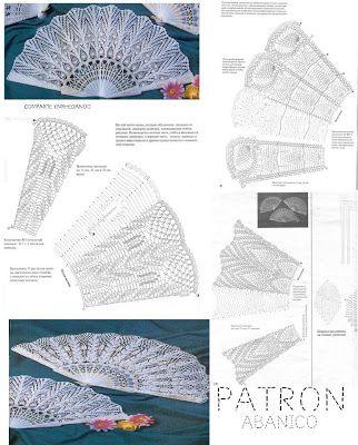 Patrones para Crochet: Patron Crochet Abanico de Lujo