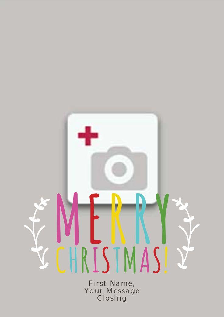 Merry Christmas Full Photo Card