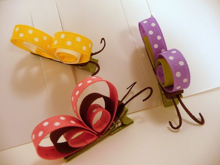 Butterfly Hair Clippies.