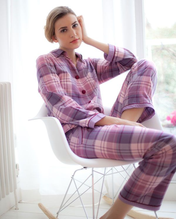 Blackberry Blush Check Pyjamas