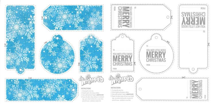 Wrapped Up, Snowflakes Gift Tag (1)