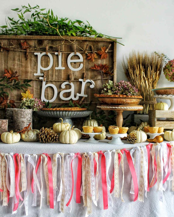 Thanksgiving Serve-Your-Own Pie Bar Party Ideas   Martha Stewart Living — What's a real feast without a pie?