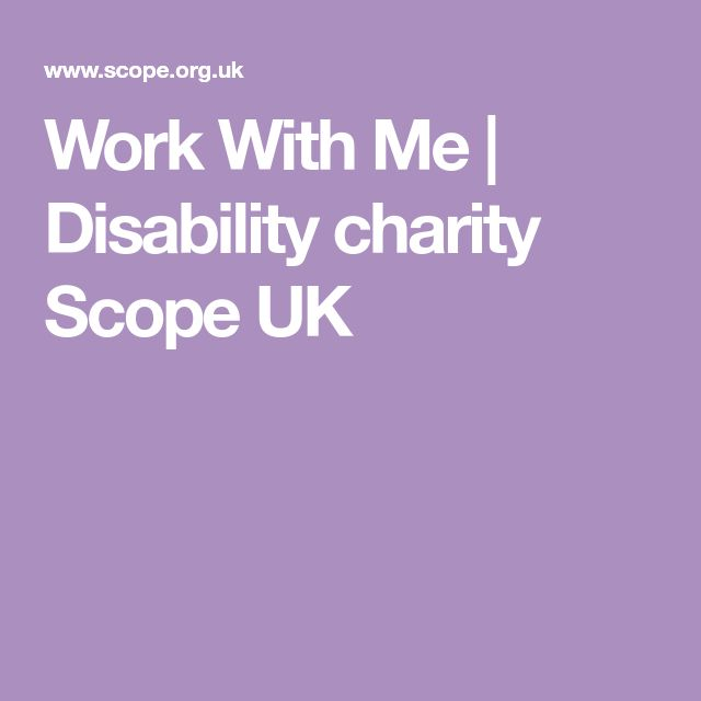 Work With Me   Disability charity Scope UK