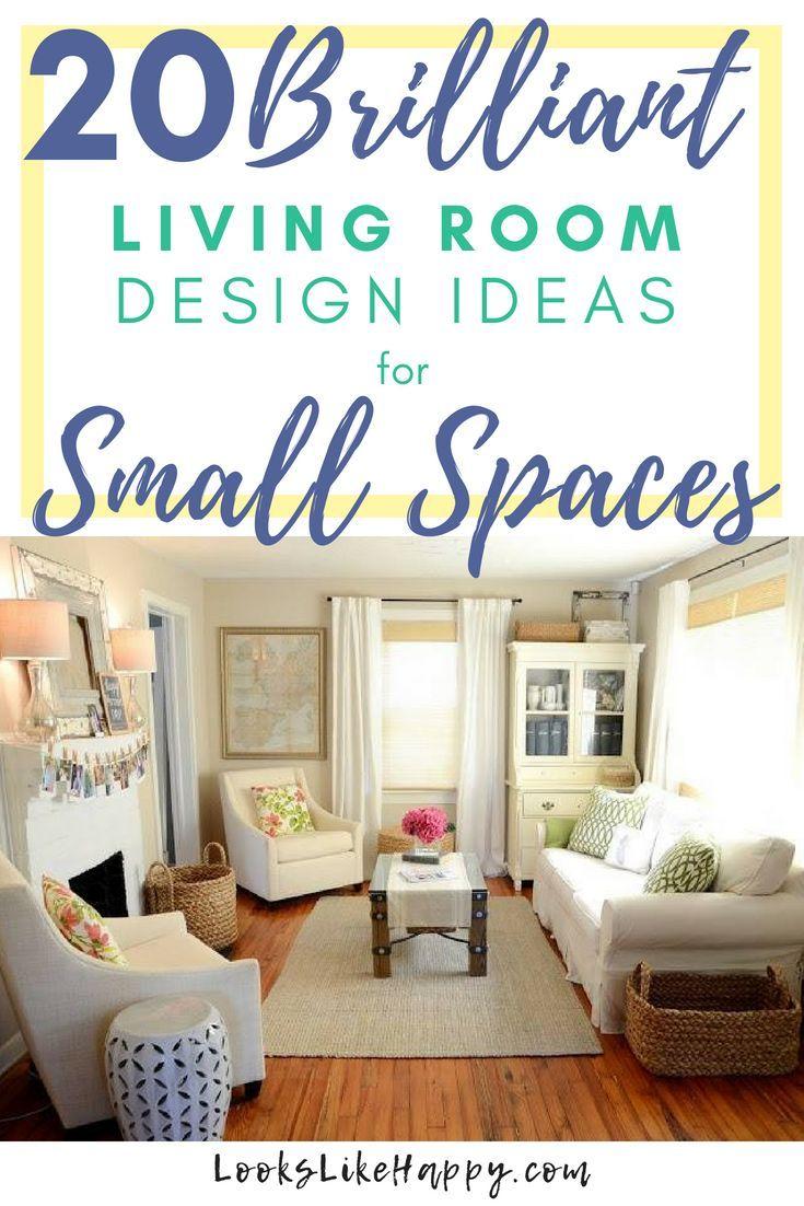 20 Brilliant Living Room Design Ideas For Small Spaces Living Room Design Small Spaces Small Living Room Furniture Small Space Living Room #small #space #living #room #design #ideas