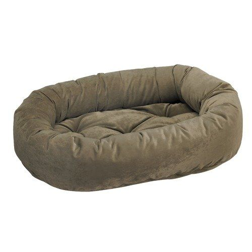 Donut Bed in Thyme Fabric (Small: 27 x 22 x 7 in.)