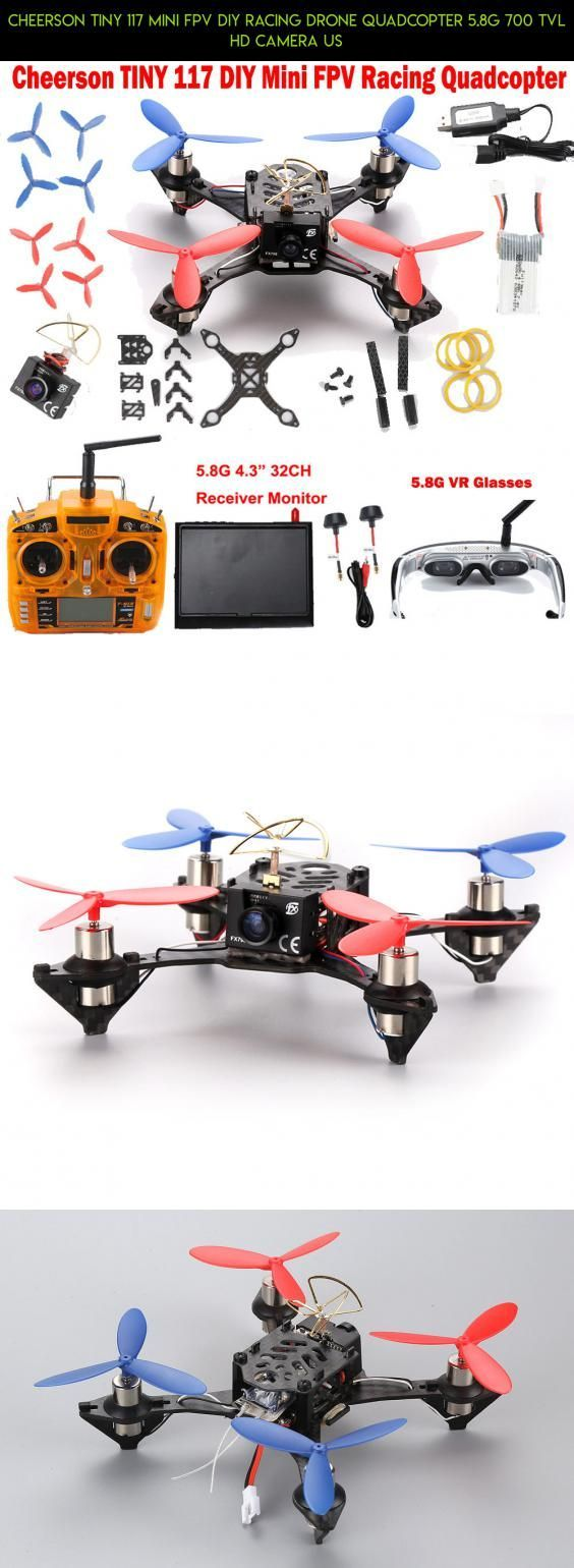 Cheerson TINY 117 Mini FPV DIY Racing Drone Quadcopter 5.8G 700 TVL HD Camera US #shopping #gadgets #plans #products #117 #kit #parts #technology #tech #fpv #cheerson #drone #racing #camera