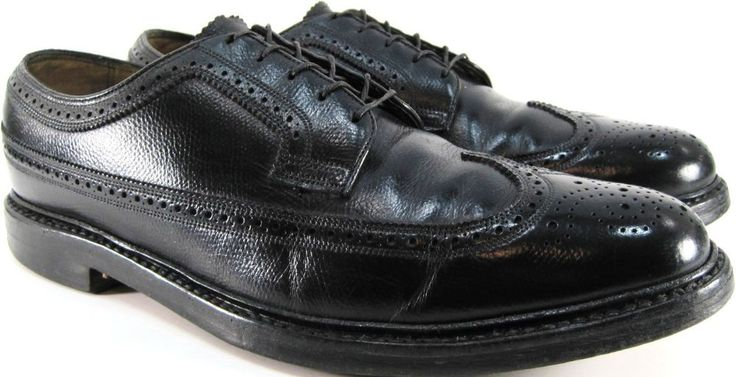 Florsheim Royal Imperial Men Wingtip Shoes Size 10.5 D Black Style 96624 V Cleat #Florsheim #OxfordWingTops