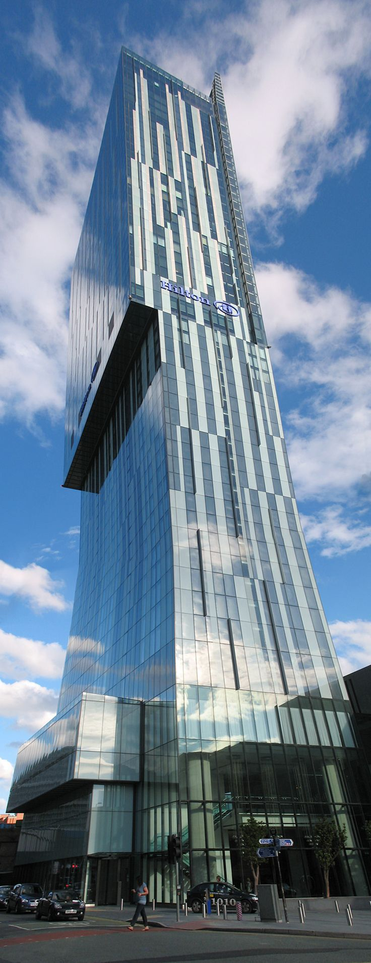 The Beetham Tower (Hilton Hotel) Manchester, England. The tallest building in Manchester at 168m. Great views from the skybar Cloud 23.