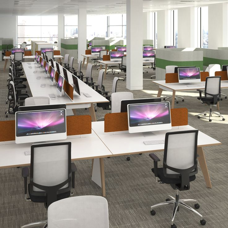 AC4 Office Bench Desks Are A Natural Inhabitant Of The Modern Open Plan  Office Catering Both