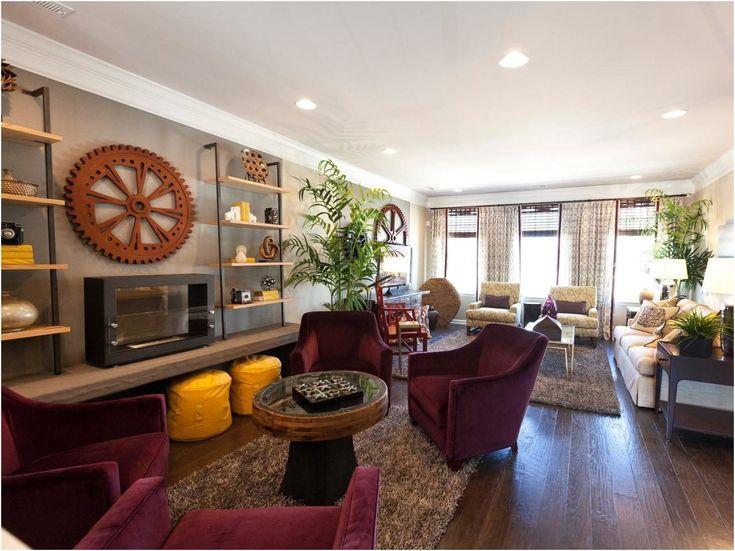12 Complete Interior Design for Rectangular Living Room Pics