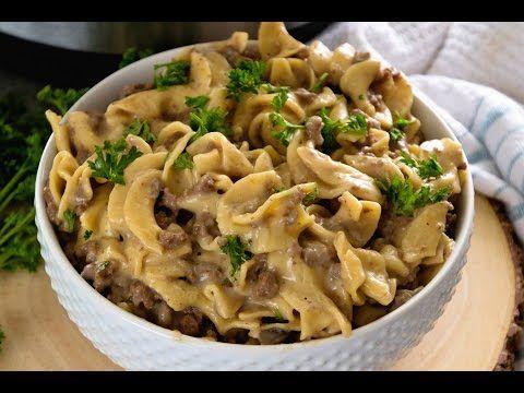 Instant Pot {Pressure Cooker} Hamburger Stroganoff + HUGE ANNOUNCEMENT! - Julie's Eats & Treats