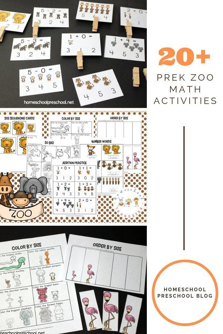 Free Printable Zoo Math Worksheets For Preschoolers Business For Kids Preschool Math Worksheets Math Activities Preschool [ 1102 x 735 Pixel ]
