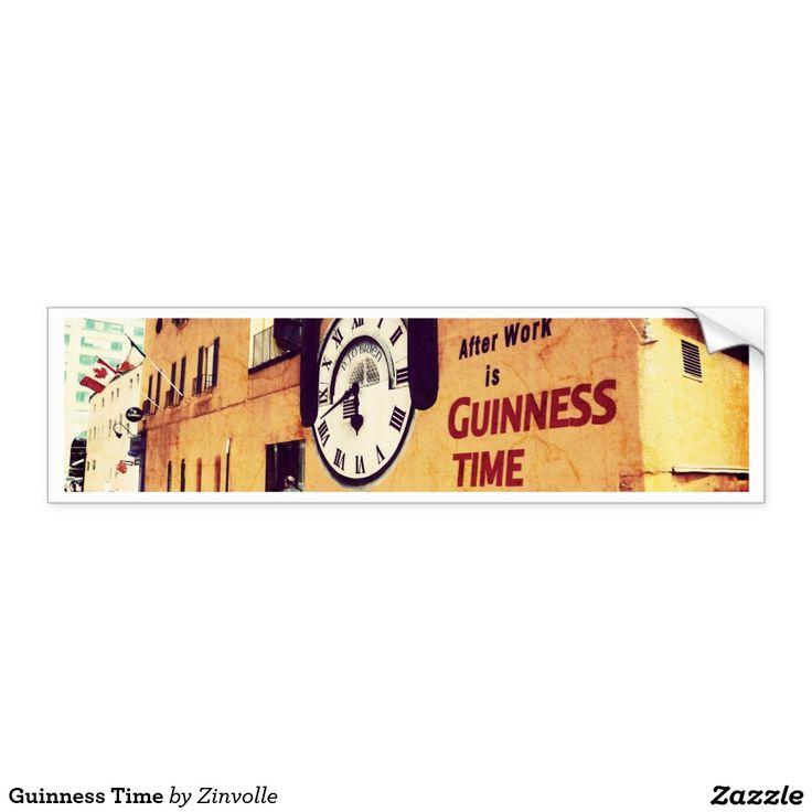 Guinness Time Bumper Sticker