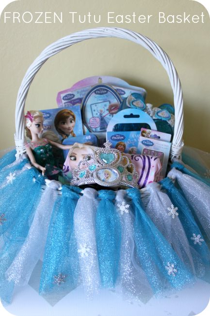 DIY FROZEN Tutu Easter Basket Tutorial! #DisneyEaster #ad