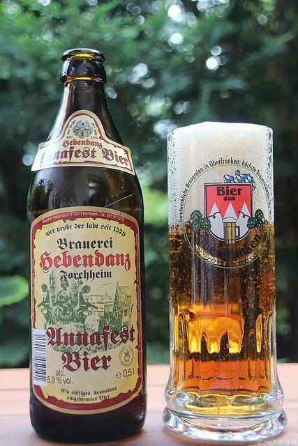 Annafest Bier der Brauerei Hebendanz, via Flickr.