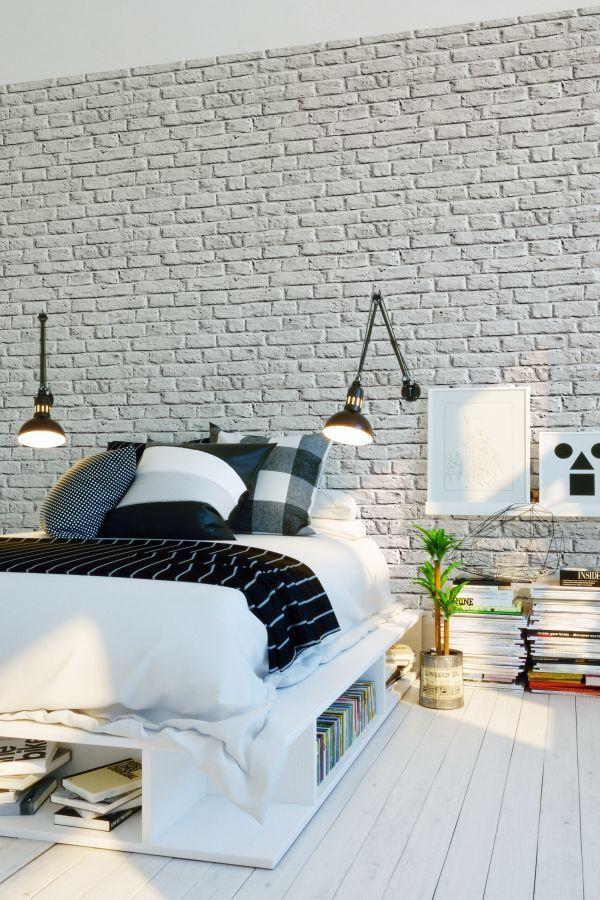 Brick Wall By Metropolitan Stories Silver Grey Wallpaper Wallpaper Direct White Brick Wallpaper Bedroom Brick Wallpaper Bedroom Brick Wall Bedroom
