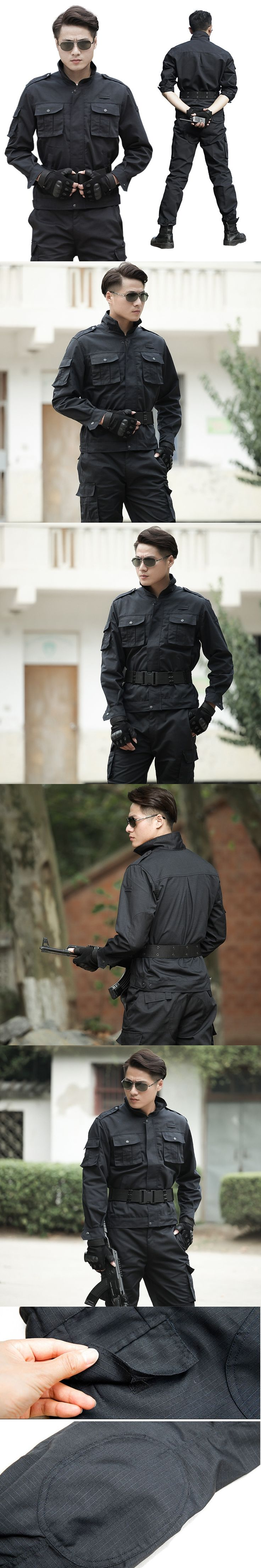 Men Military Tactical Uniform Suit Special Forces Militar Combat Clothing Security Uniforms Male Working Clothes Jacket + Pants
