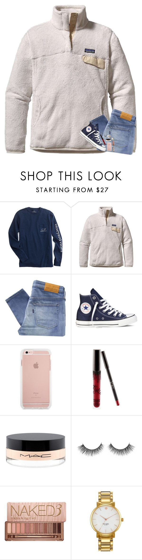 """Contest Entry"" by kat-attack ❤ liked on Polyvore featuring Patagonia, Levi's Made & Crafted, Converse, Kylie Cosmetics, MAC Cosmetics, Urban Decay, Kate Spade, Chronicle Books and paige100"