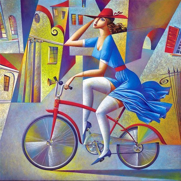 Georgy Kurasov was born in 1958 in the USSR, in what was then Leningrad. He still lives and works in the same place, but now the country is Russia and the city is called St Petersburg. Without any effort on his part whatsoever, Georgy seems to have emigrated from one surreal country to another. #Painting #Georgy_Kurasov