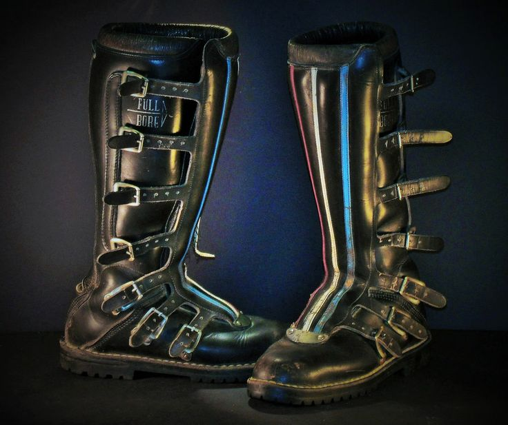 Vintage Motorcycle Boots Ebay
