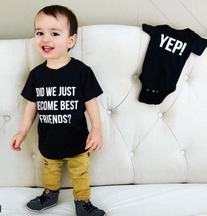 Perfect Pregnancy Announcement! Did we just become best friends? Yep! Adorable big brother / second baby announcement #babyannouncement #pregnancyannouncement Pregnancy announcement
