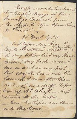 William Bligh's notebook