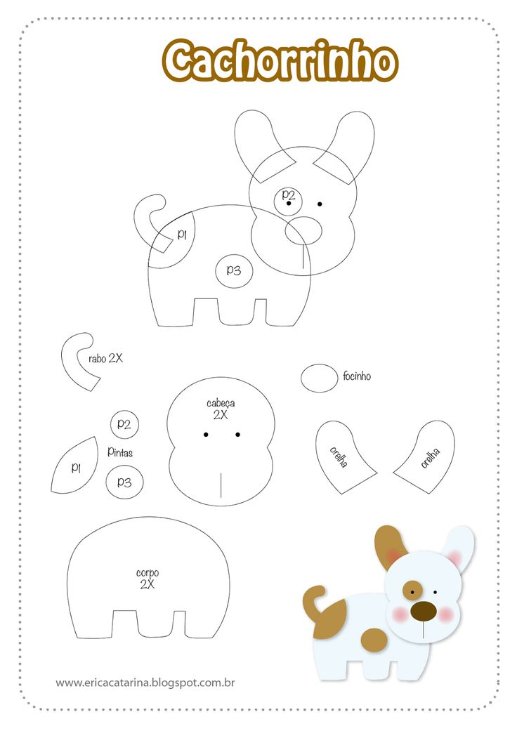 DIY Felt Dog - FREE Pattern / Template