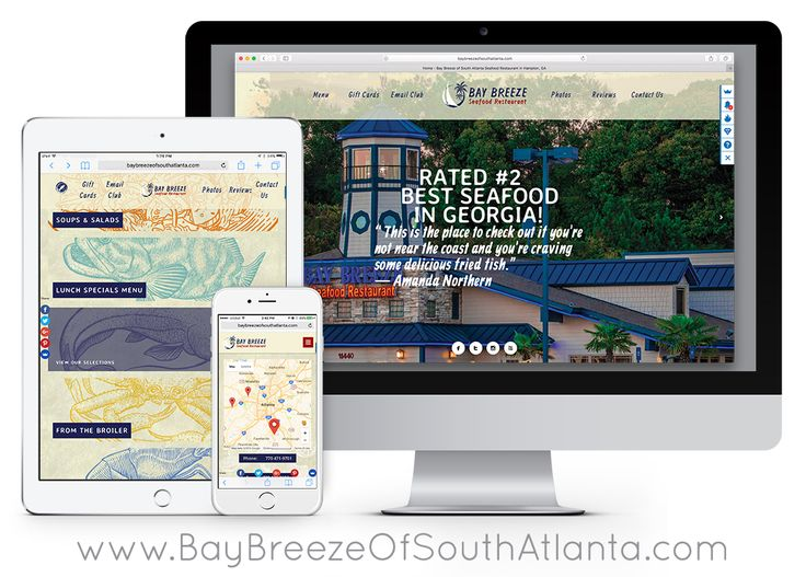 A few months ago I was contacted by the owner of Bay Breeze of South Atlanta to redesign the printed dining menu and rebranding the advertising of this one restaurant which is apart of a small chain of seafood restaurants in the Atlanta, GA area. They wanted on upgrade on look and feel and wanted to use custom illustrations rather than relying on photos of the food. I wound up rebranding the Atlanta based restaurant's logo, dining menu, to-go menu, website, and social media graphics.