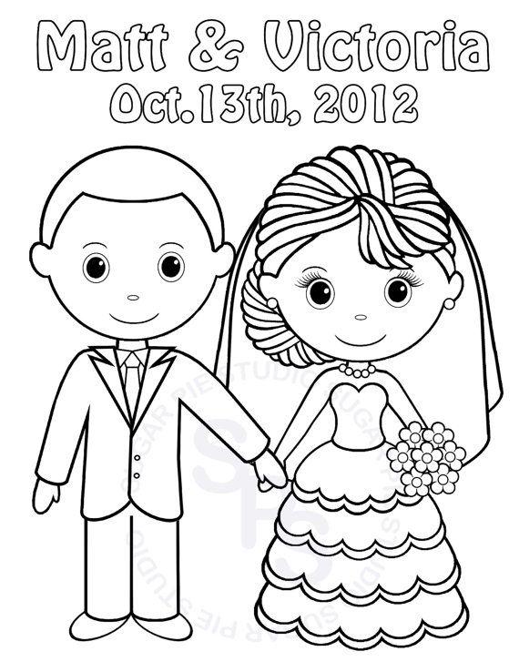 Personalized Printable Bride Groom  Wedding door SugarPieStudio