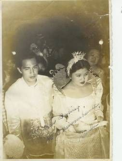 Marita Rojas Joco (now Shirani) as the queen of the Mayflower Festival in Cavite City during the 50s. At her back and partially hidden is Soledad Rojas Joco. Marita was the adopted daughter of Soledad Rojas Joco and Engr.Amado Joco. She's the biological child of Bernardo S.Rojas and Virginia Salcedo Rojas.
