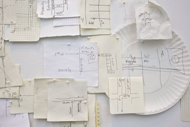 An Artist is Making a Map of Manhattan Using Only Handwritten Directions From Strangers New York maps