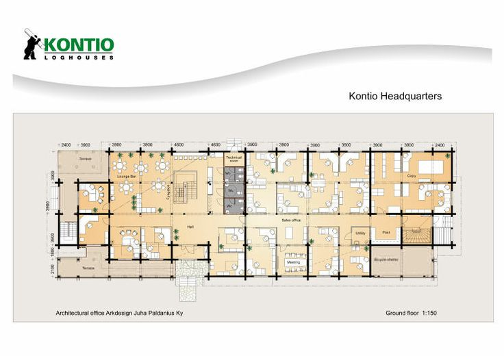 Plan immobilier de bureau Kontio maison bois. http://www.kontio.fr/index.php?284&prod_id=134