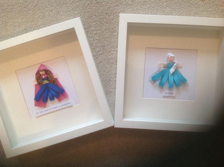 Frozen Ribbon Sculpture Art. Great gift for sisters.