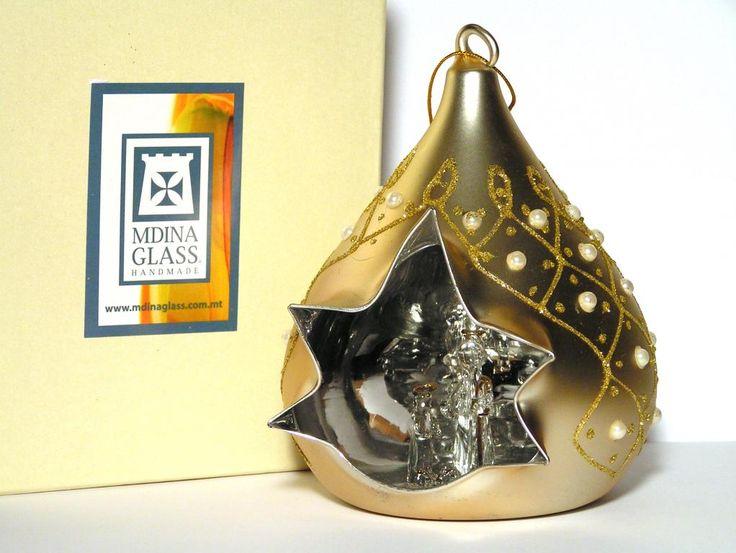 Złota bombka ze stajenką Mdina Glass Malta -21%