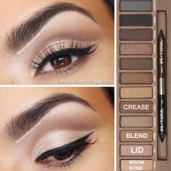 Natural smoky eye using the Naked palette by Urban Decay