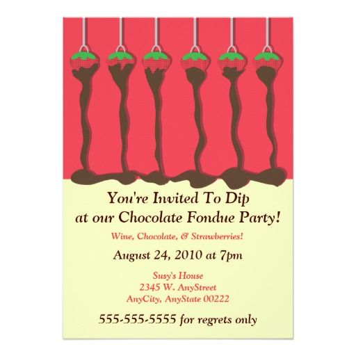 397 best Chocolate Birthday party Invitations images – Fondue Party Invitation Wording