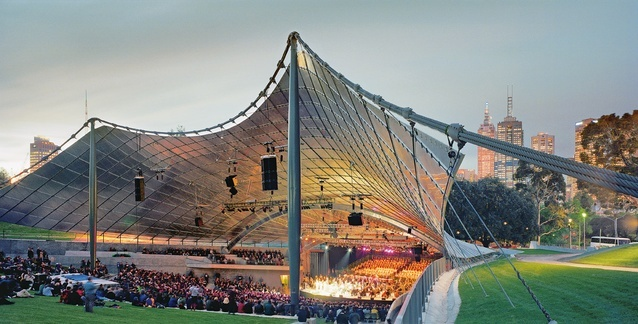 Myer Music Bowl, botanical garden,melbourne