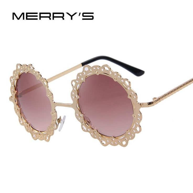 MERRY'S Women Metal Hollow Out Round Eyeglasses